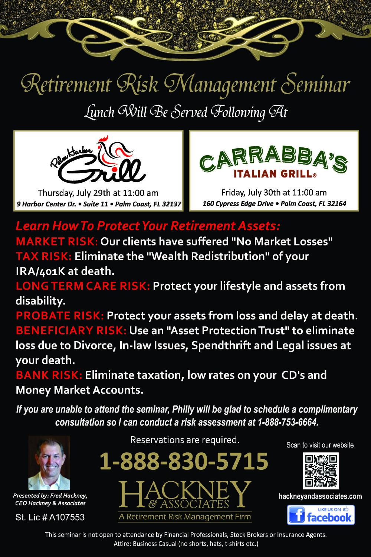 Palm Coast BBQ Carrabbas July 2021 Seminar